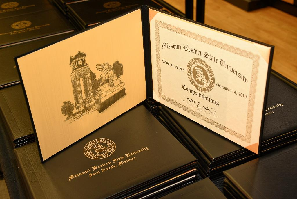 missouri western state university diploma covers