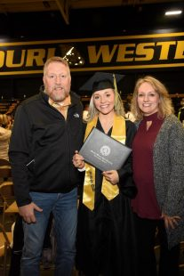 missouri western graduate and family