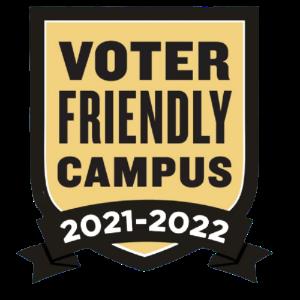 voter friendly campus badge