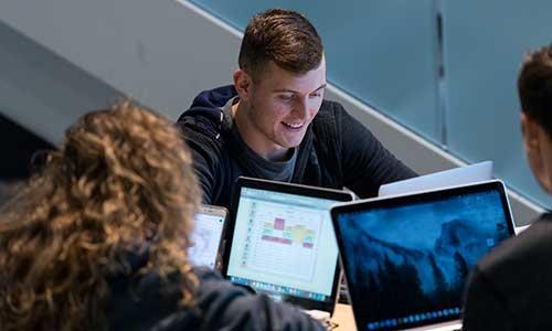 MWSU students studying in Remington atrium
