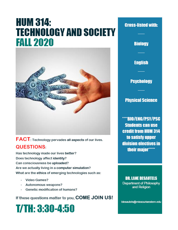 HUM 314: TECHNOLOGY AND SOCIETY