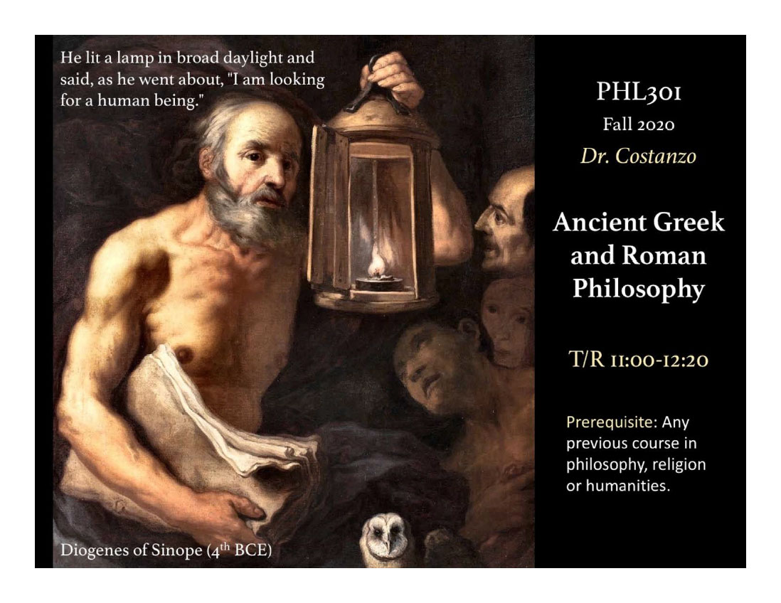 PHL 301 ANCIENT GREEK AND ROMAN PHILOSOPHY