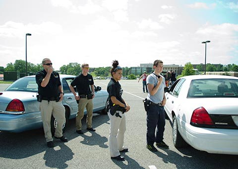 Students in a law enforcement class