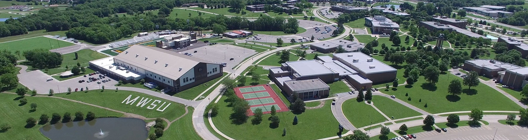 Aerial view of MWSU campus