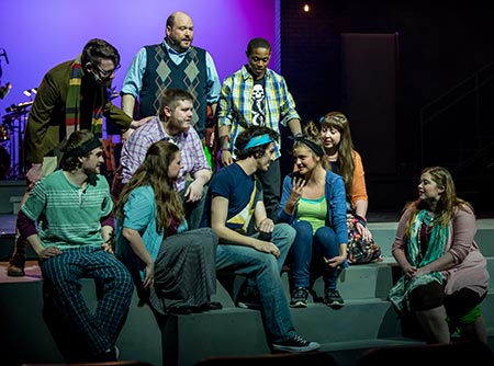 "Scene from the MWSU theatre production of ""Godspell"""