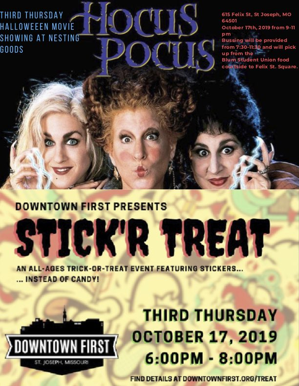 Third Thursday - Hocus Pocus and Stick'r Treat