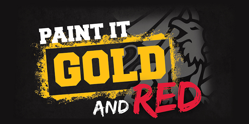 Paint it Gold and Red