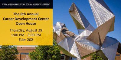 Career Development Center Open House postcard
