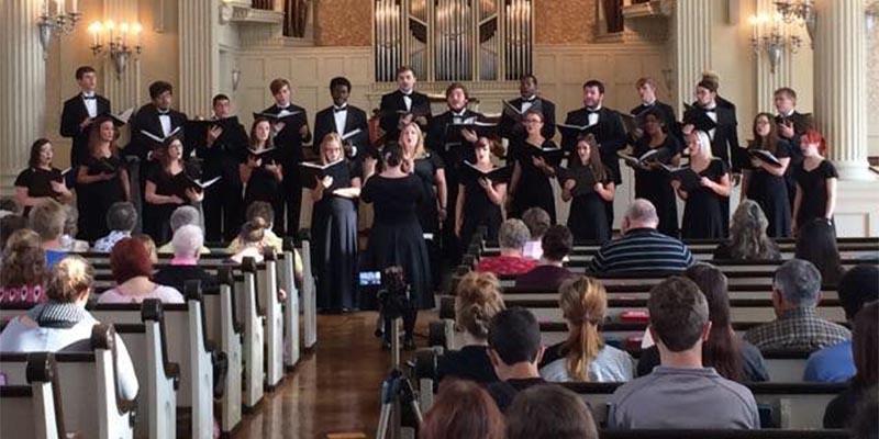 MWSU Choral concert at First Presbyterian Church in St. Joseph, MO
