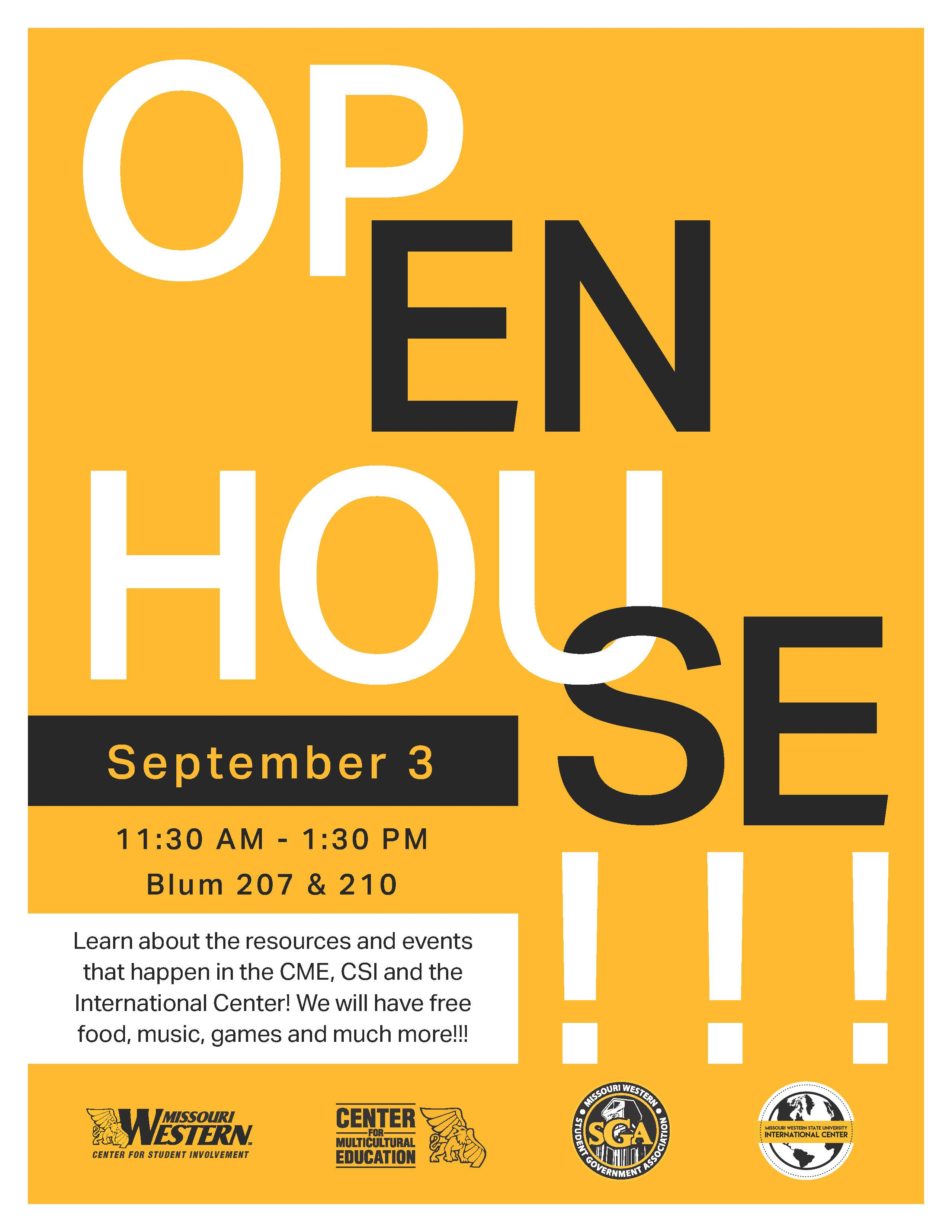 CME Open House flyer