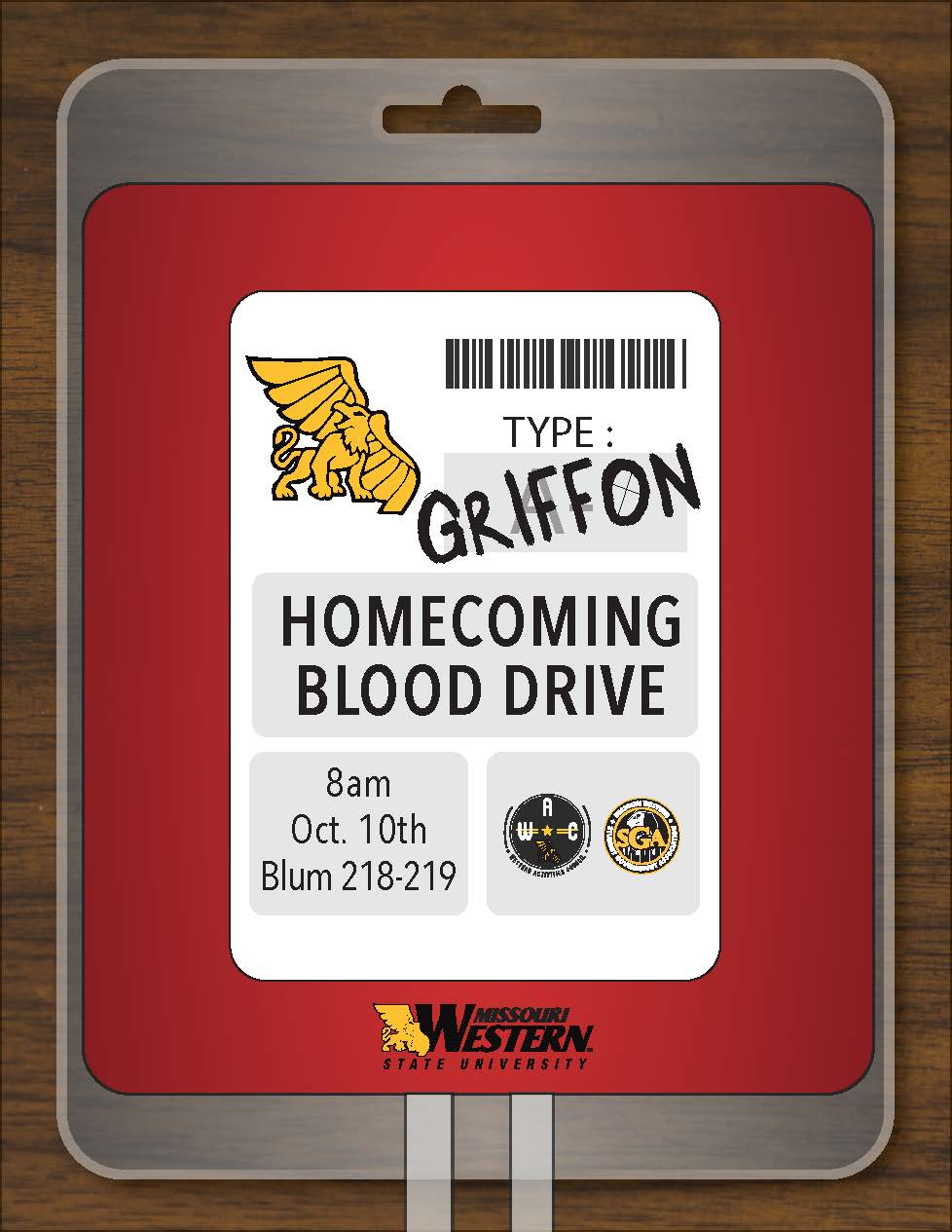Homecoming blood drive