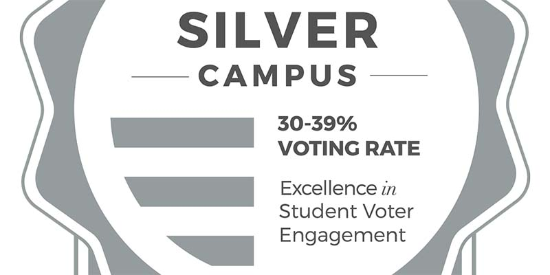 Silver Campus 30-39% voting rating excellence in student voter engagement