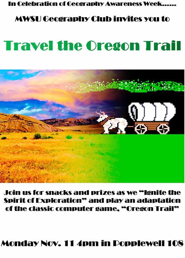 Travel the Oregon Trail Flyer
