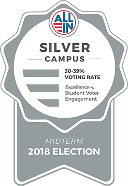 Silver Campus - 30-39% Voting rate - Excellence in student voter engagement
