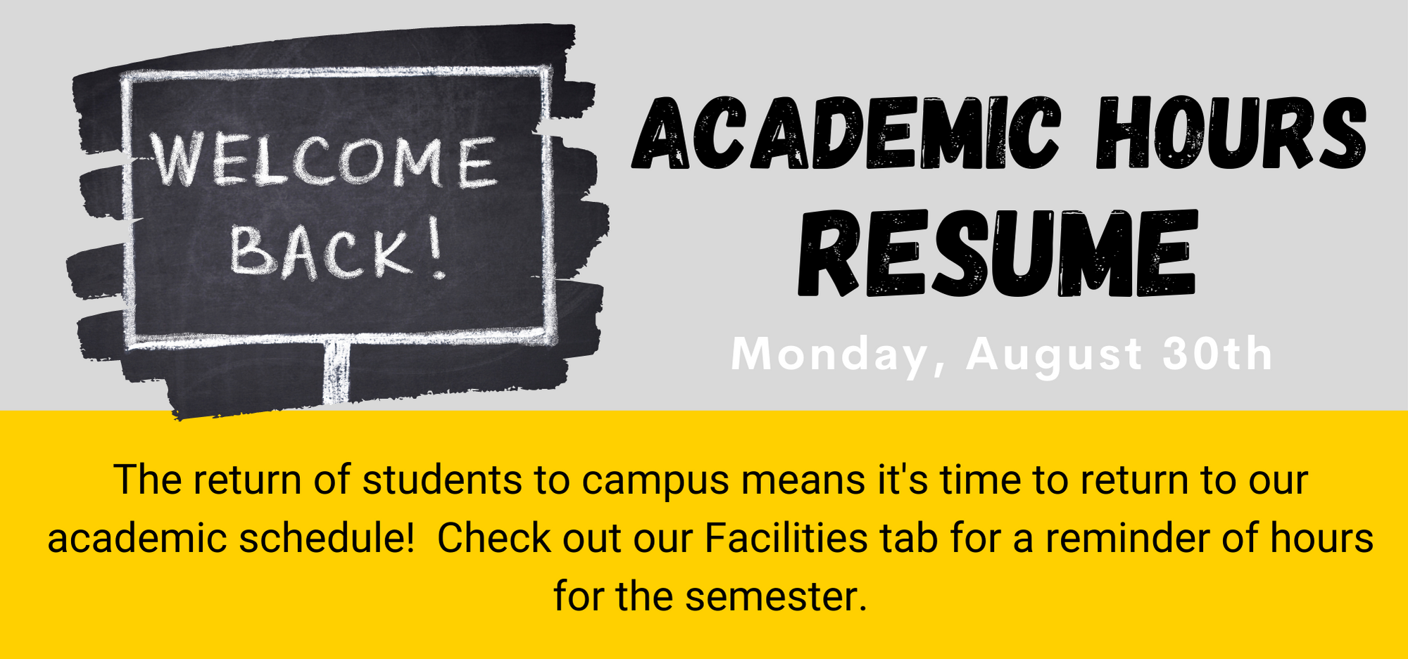 a academic hours resume flyer