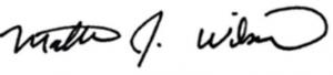 wilson signature