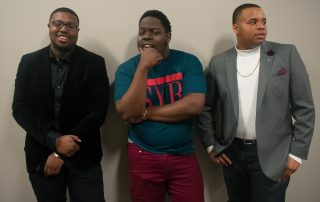 "Elijah Todd, Jonathan Julien and Tra Qualls show their swagger at the Center for Multicultural Education's ""Black Love"" event. The three were very vocal and animated supporters of love amongst African American people."